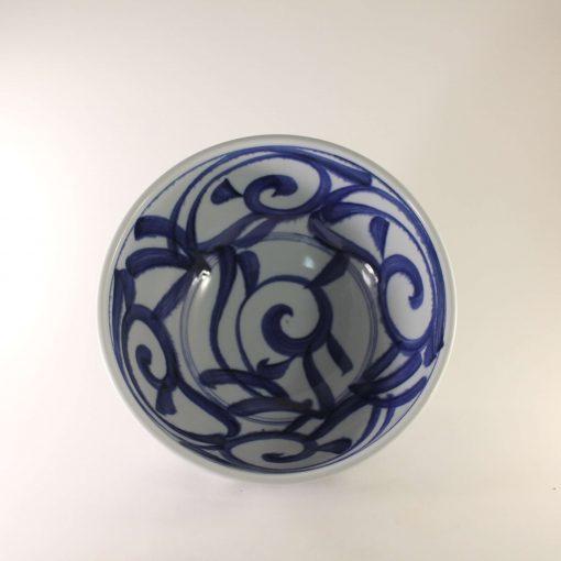 Skål blå vit