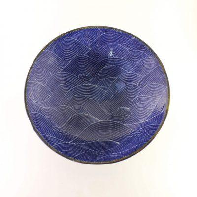 Snygg blå skål