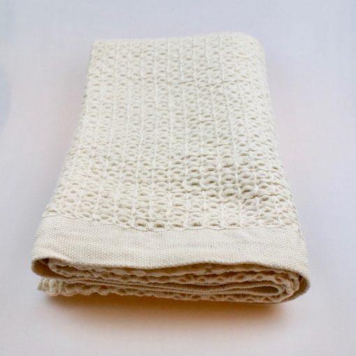 Handduk dusch natur bomull lin