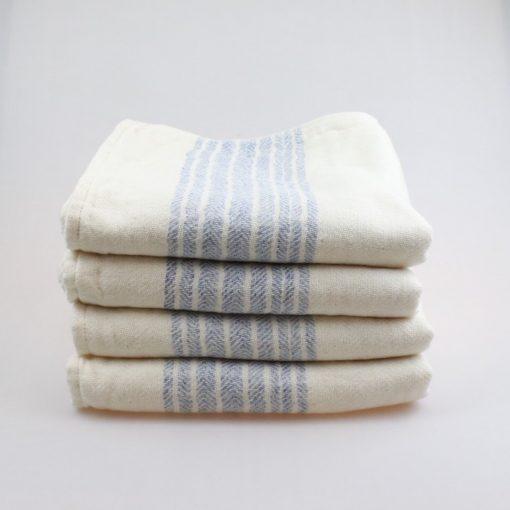 Japansk handduk flax ljusblå