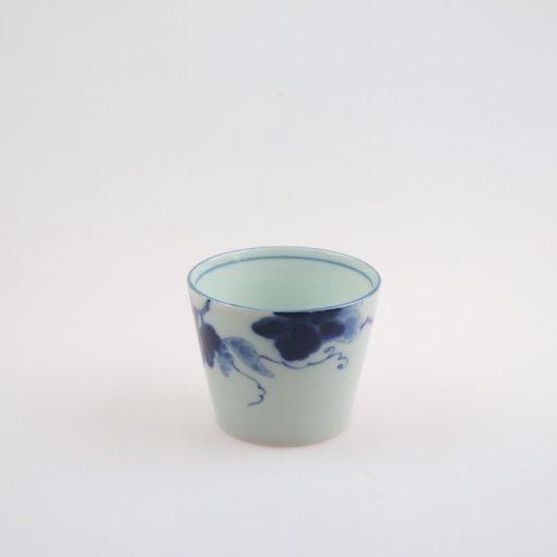 mugg plommon blå